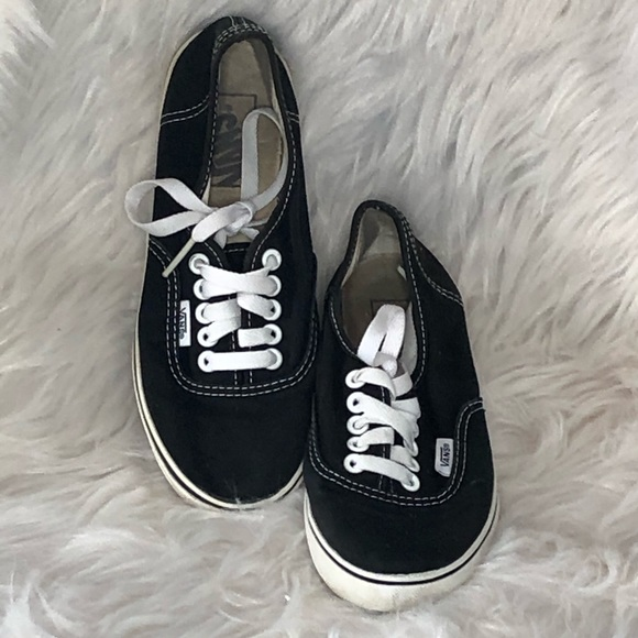 Black Canvas Lace Up Sneakers Womens